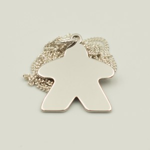 Meeple Silver Charm